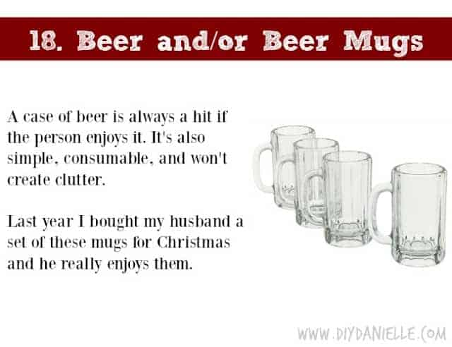Holiday Gift Idea for Adults: Beer and Beer Mugs