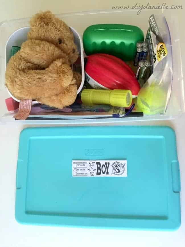 5-9 year old Boy's Shoe Box for Operation Christmas Child