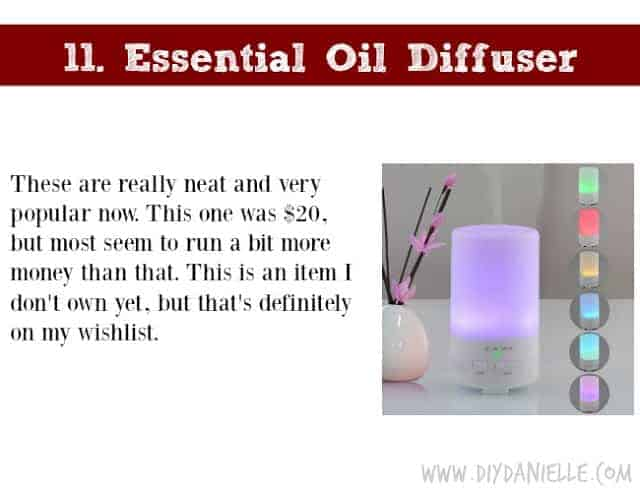 Holiday Gift Idea for Adults: Essential Oil Diffuser