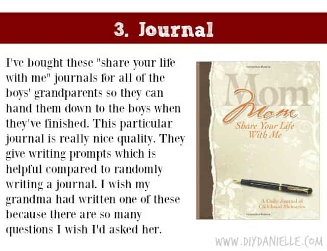 Holiday Gift Idea for Adults: Journal
