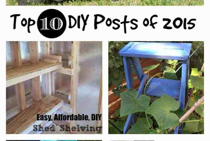 Top 10 DIY Blog Posts on DIYDanielle.com for 2015 (with yearly stats!)