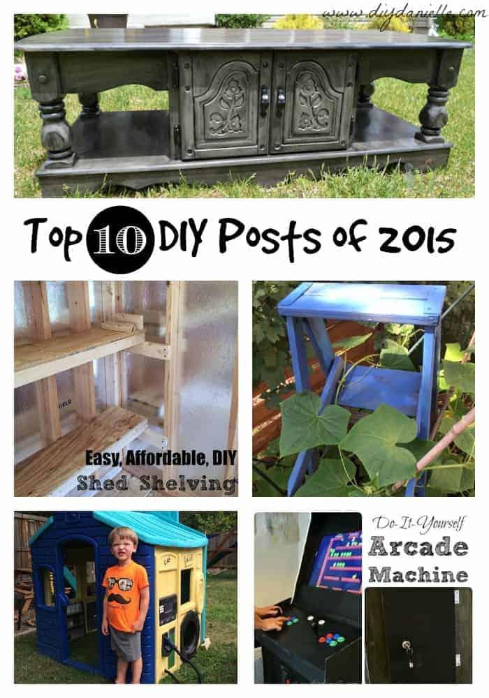 Top 10 DIY Posts of 2015 for DIYDanielle.com