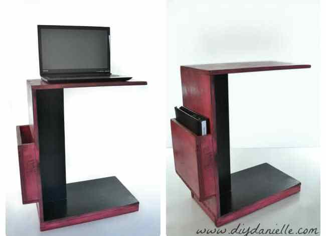 DIY Easy Rolling Laptop Desk for Working at Your Couch