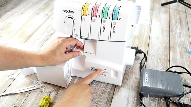 How to thread a Brother serger.