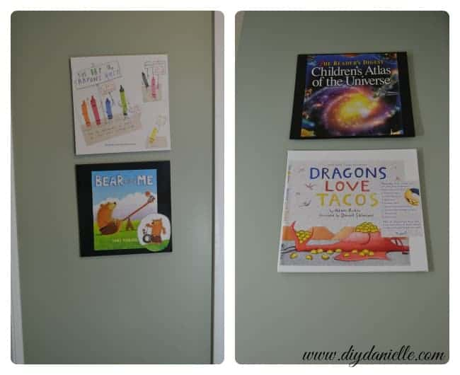 Book upcycle project for wall art.