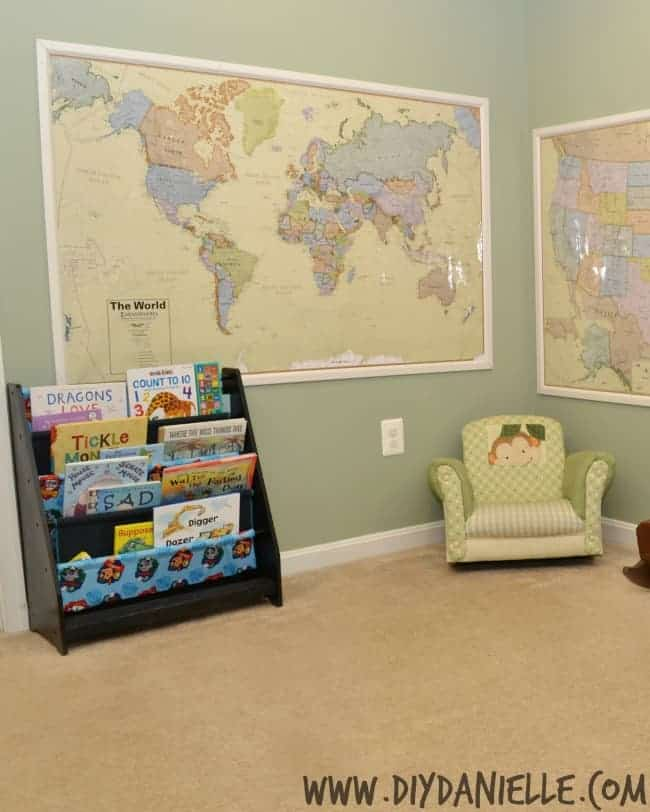 Framing Maps with Moulding for Wall Decor