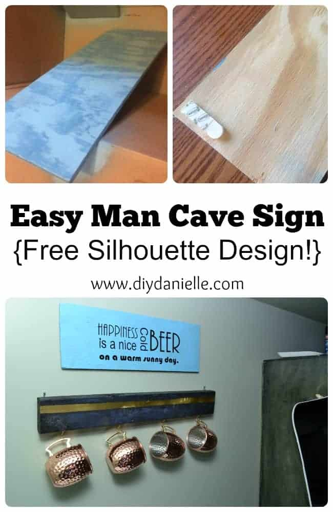 Tutorial: Easy DIY Man Cave Sign.