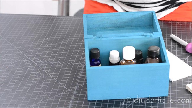 This empty box is perfect for essential oils but needs some dividers.