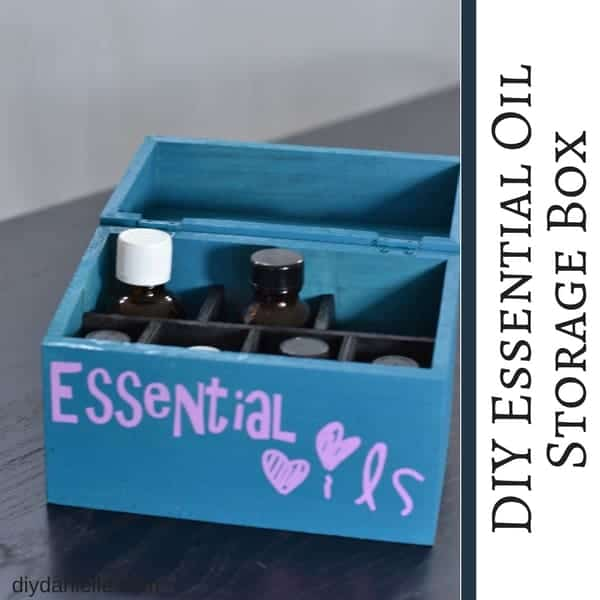 How to Make an Essential Oil Storage Box