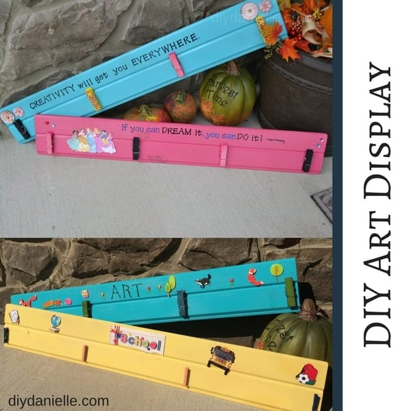 How to make a children's art display. EASY project!