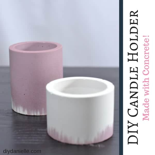 DIY these adorable candle holders with concrete and silicone molds. Learn how here.