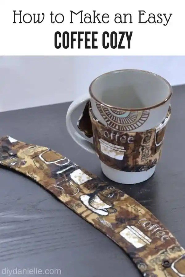 How to sew a mug cozy. These are great gifts.