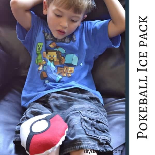 How to sew cute ice packs in the shape of Pokeballs! Free pattern!