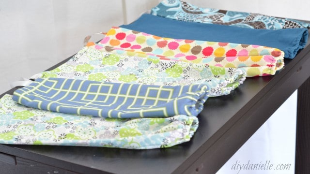 Grocery bag holders are easy to sew.