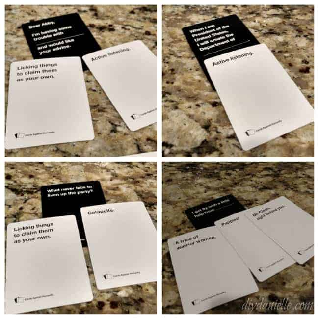 Diy cards against humanity