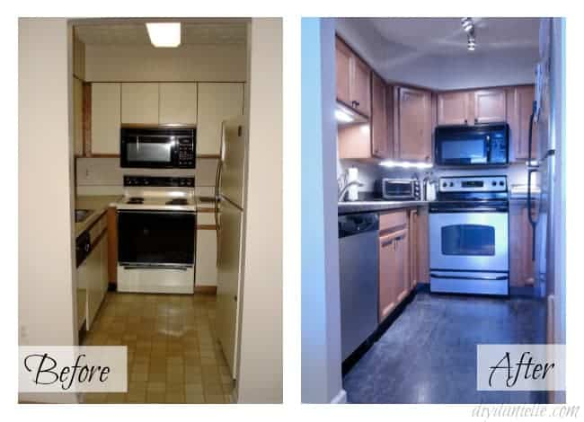Kitchen renovations: Before and After in a SMALL condo