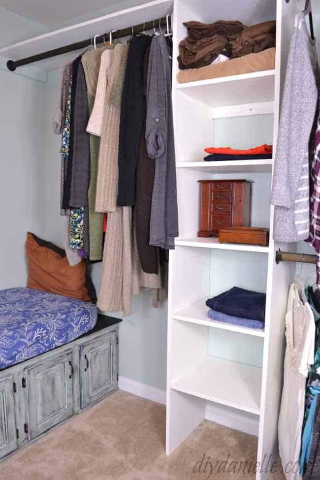 Organized Master Closet.