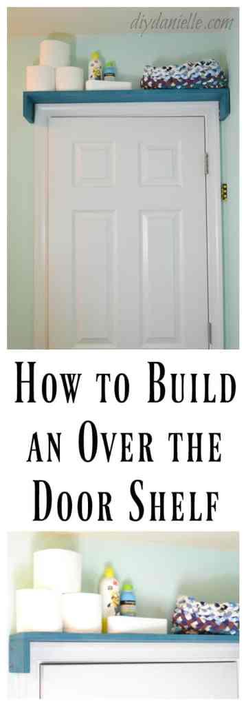 DIY Over the Door Bathroom Shelf