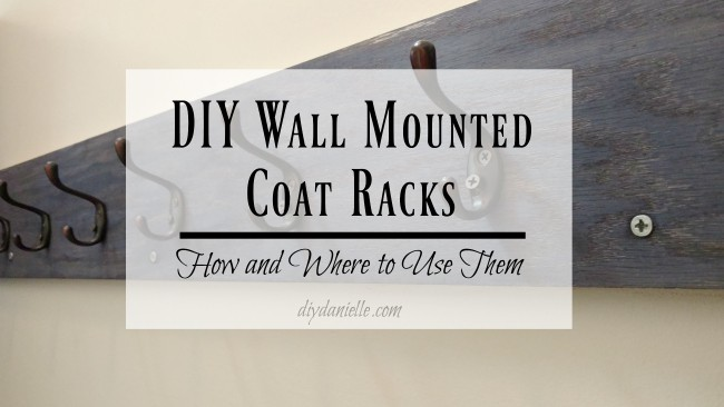 DIY Wall Mounted Coat Racks