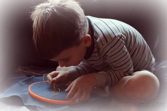DIY Learn to Sew Kit for Young Children