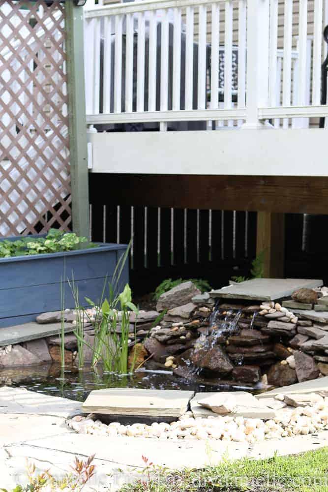 How to setup a pond and patio.