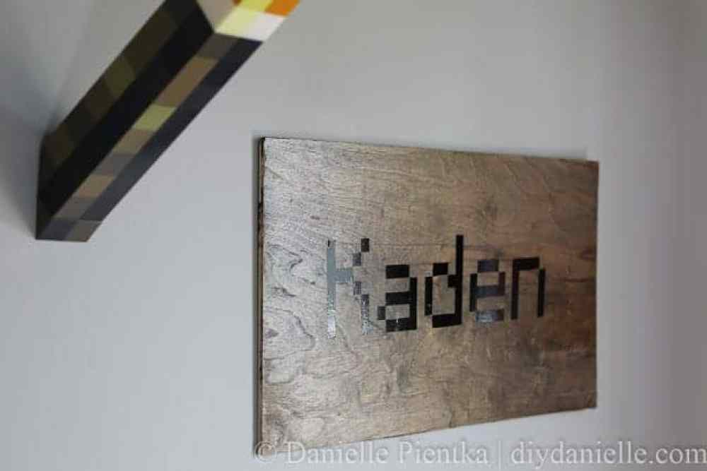 Simple Minecraft Name Sign with Permanent Vinyl
