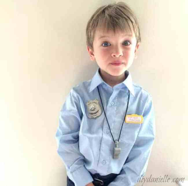 DIY Police Costume for kids