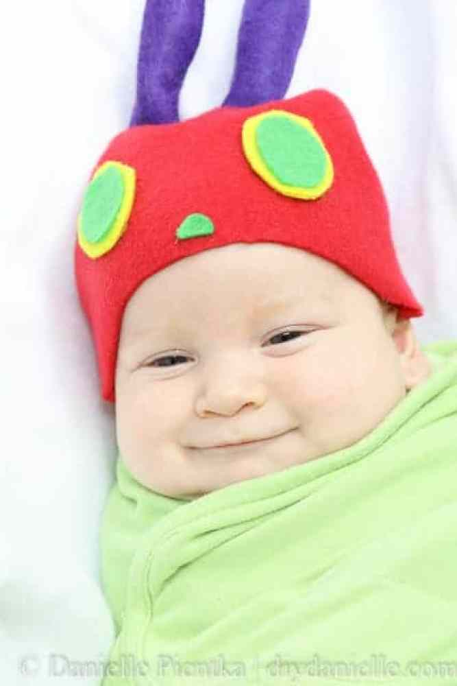 The Very Hungry Caterpillar: DIY Costume for a Newborn