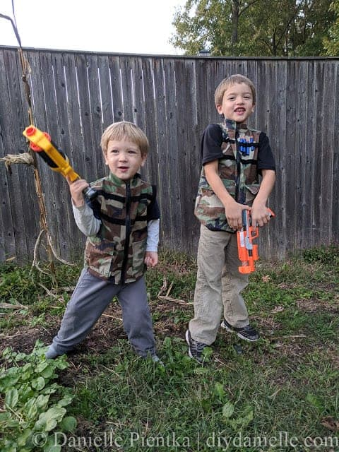 How to sew Nerf vests for kids from old camo.