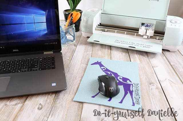 DIY Yoga Mat Mouse Pads