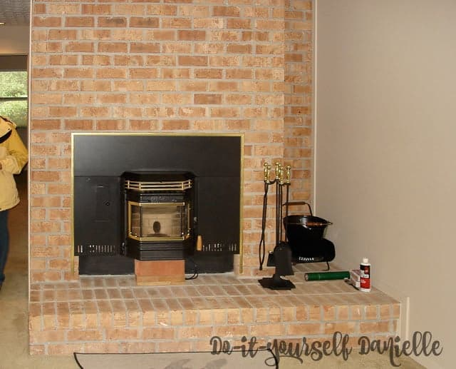 Unused space in a condo, next to the fireplace.