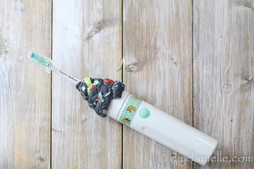 DIY electric toothbrush cover.