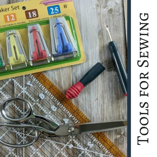 Some tools for sewing. Get the list of tools that are helpful for sewists!