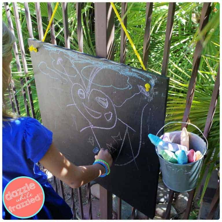 Small outdoor chalkboards.