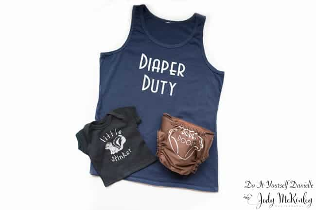 Diaper Duty Cloth Diaper and Shirt Set