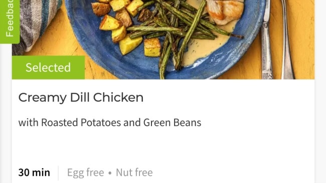 Where to find allergy info for Hello Fresh meal selections.