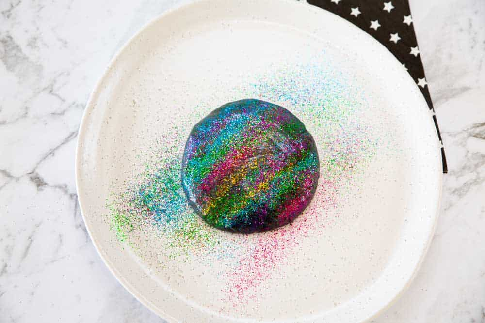 Galaxy playdough for gifts.