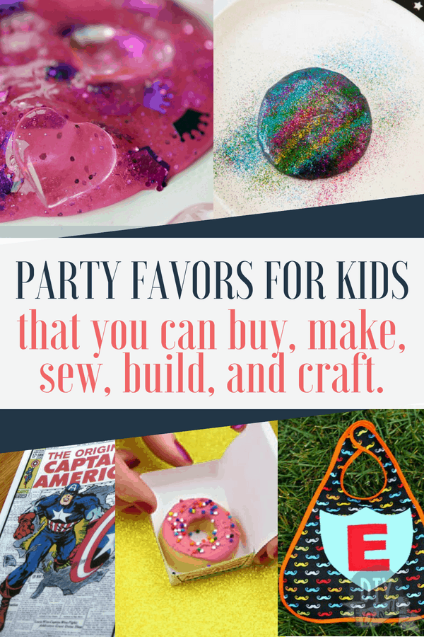 the best kids birthday party favors that you can buy make sew or