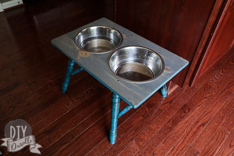DIY Dog Bowl on a Stand