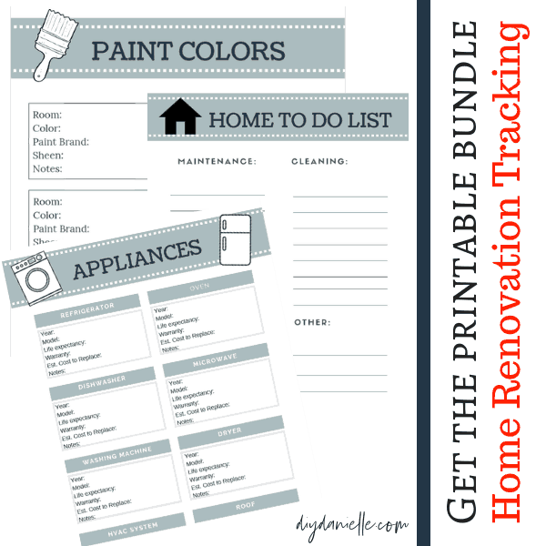 Learn how to save money on home renovations and get the printable bundle that will help you organize it all!