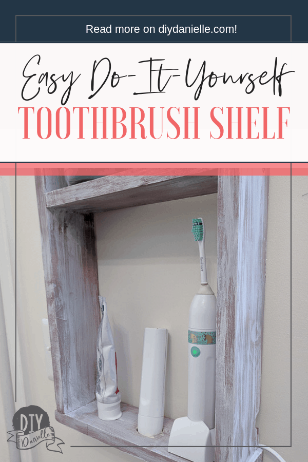 Tips for how to build a simple shelf for your electric toothbrush and its charging base.