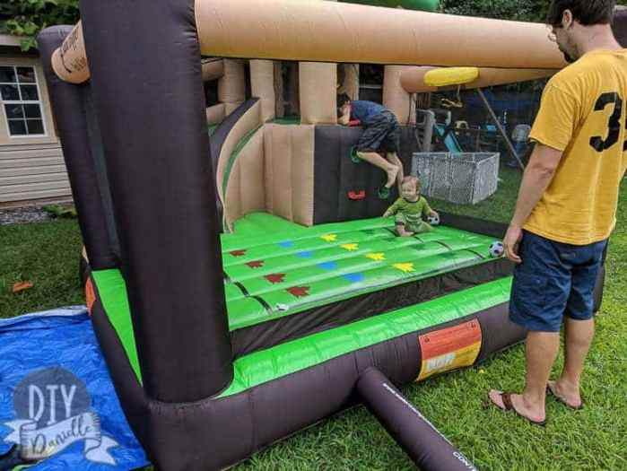 This bounce house has been a great toy for the boys starting as young as 8 months (crawling). At 1.5, my son LOVES it.