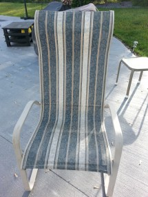 Patio Sling Chairs- Recover Diy Decorating