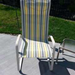 Recover Sling Patio Chairs Vintage Outdoor  Diy Decorating For Less