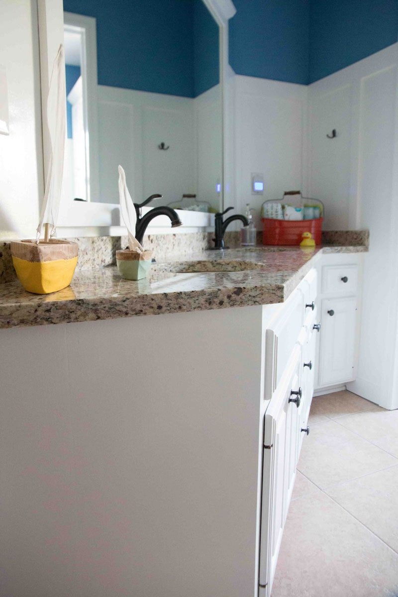 Painted Bathroom Cabinets How To Paint Bathroom Cabinets Why You Shouldn T Sand Your Cabinets