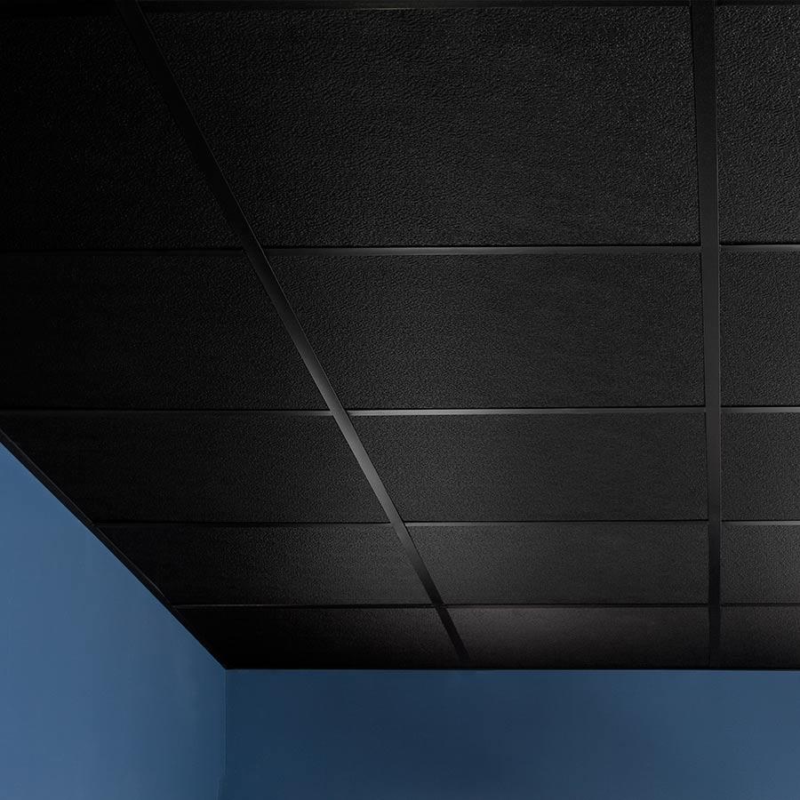 Genesis Ceiling Tile-2x2 Stucco Pro in Black