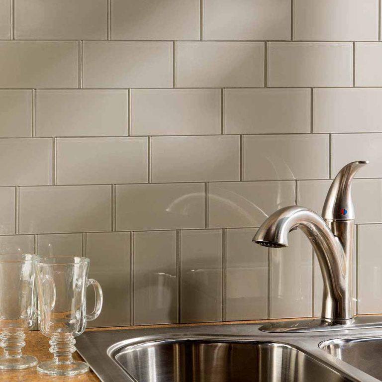 aspect peel and stick 3x6 glass tiles