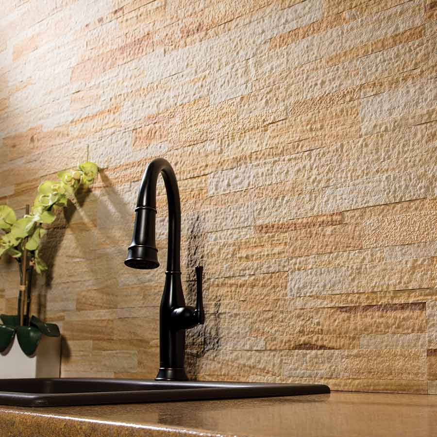 Aspect Stone Tile in Golden Sandstone