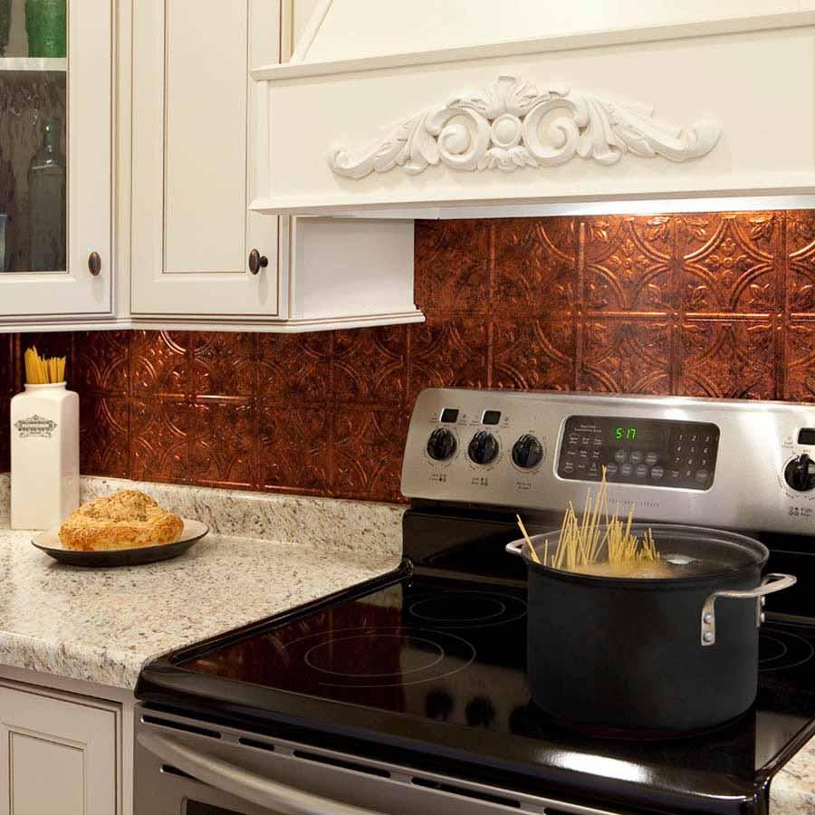 Fasade Backsplash - Traditional 1 in Moonstone Copper