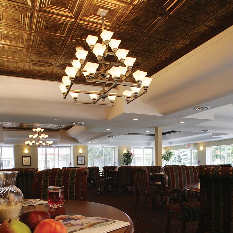 Fasade Ceiling Tile-2x2 Suspended-Traditional 3 in Bermuda Bronze